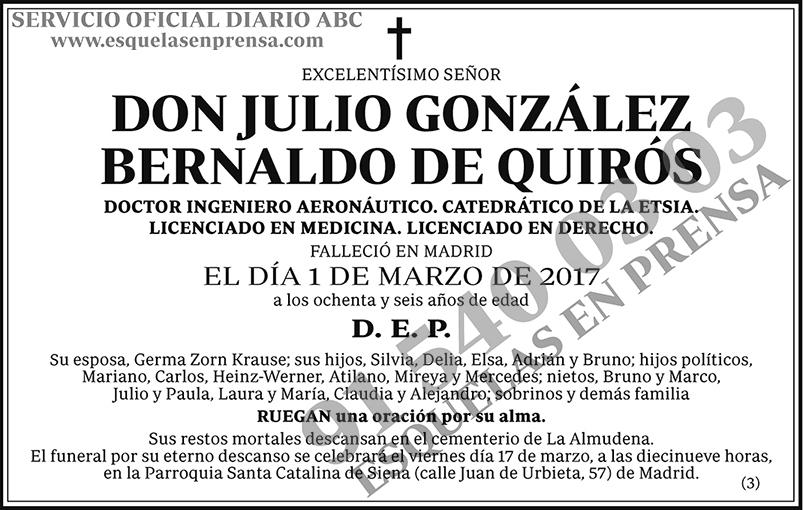 Julio González Bernaldo de Quirós